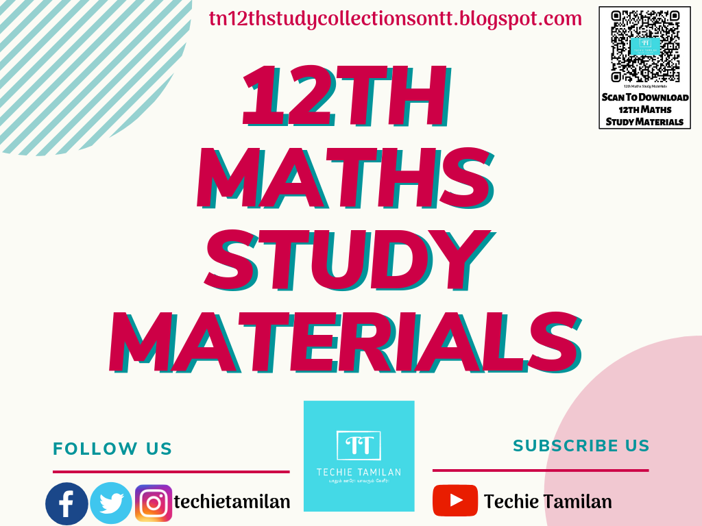 Download All 12th Maths Study Materials