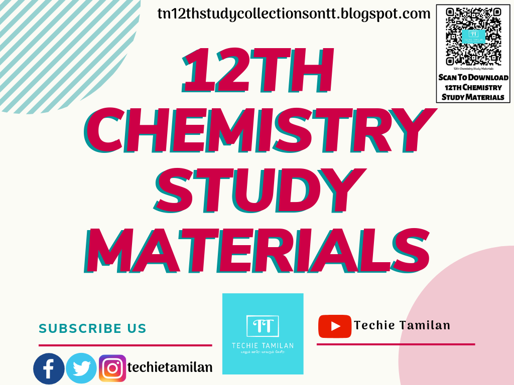Download All 12th Chemistry Study Materials