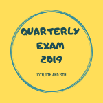 Quarterly Exam 2019 Question Papers and Answer Key