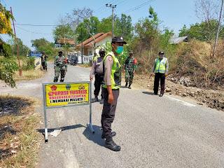 Operasi Yustisi Protokol Kesehatan Polsek Modung Polres Bangkalan