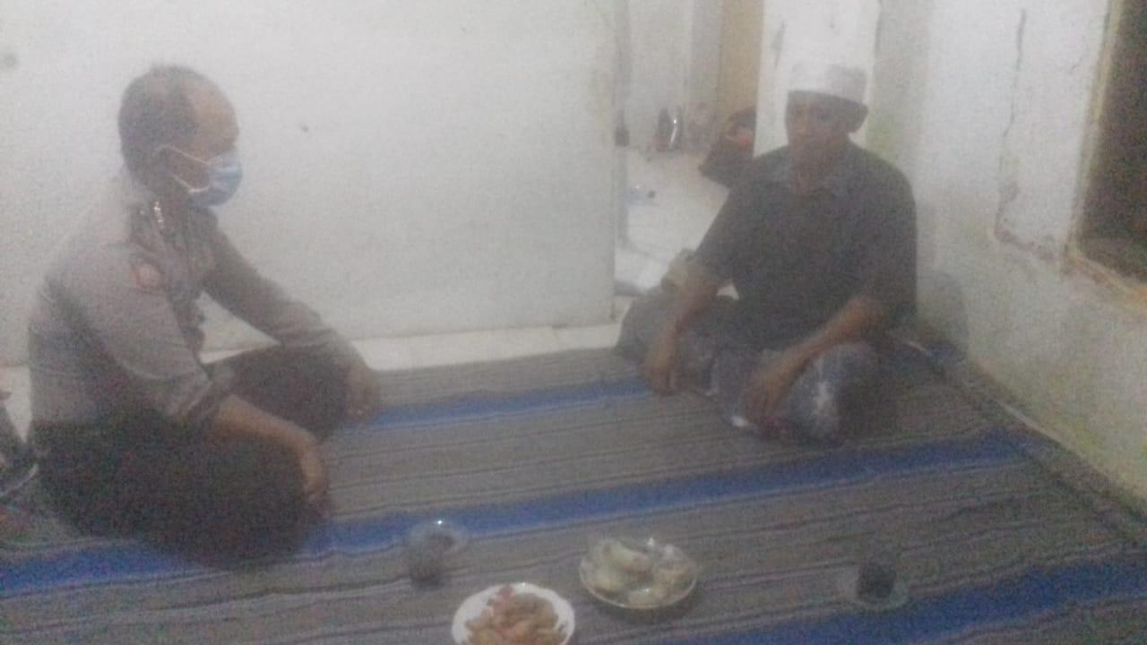Bhabinkamtibmas Polsek Kwanyar Polres Bangkalan Beri Himbauan
